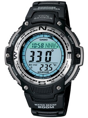 Casio Protrek Compass Thermometer SGW-100-1VDF SGW-100-1 SGW100 200M Men's Sports Watch