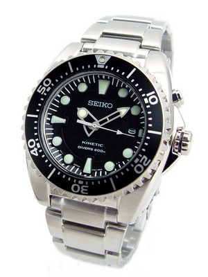 Seiko Kinetic Diver's SKA371P1 SKA371P SKA371 200M Watch
