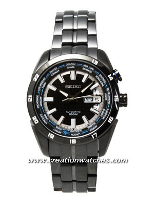 Seiko World Time Automatic SRP039K1 SRP039K1 SRP039 Men's Superior Watch