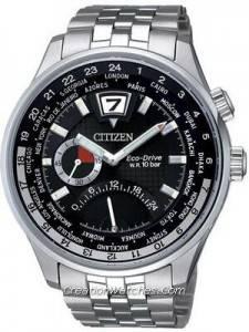 Citizen Retrograde Dual Time Eco-Drive World Time BR0010-56E BR0010 Watch