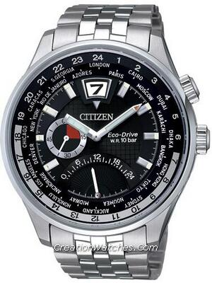 Citizen Retrograde Dual Time Eco-Drive World Time BR0010-56E BR0010 Watch