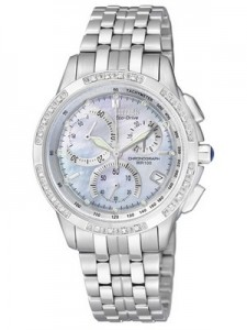 Citizen Eco-Drive Chronograph Genuine Diamonds FB1095-53D FB1095 Women's Watch