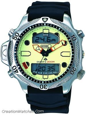 Citizen Aqualand Diver Depth Meter Promaster JP1010-00W JP1010