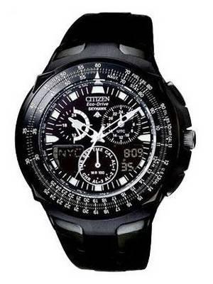 Citizen Promaster Eco-Drive Skyhawk JR3159-11E JR3159 World-Time Chrono Watch