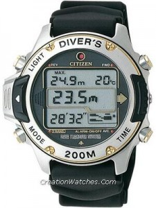 Citizen Hyper Aqualand Divers Promaster MA9004-21E MA9004 Computer Interface Watch