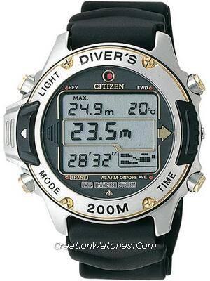 Citizen Hyper Aqualand Divers Promaster MA9004-21E MA9004 Computer Interface Watch
