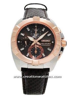 Seiko Velatura Chrono SNDZ20P1 SNDZ20P SNDZ20 16-Diamonds Sapphire Women's Watch