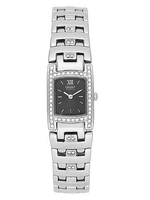 Citizen Women's Eco-Drive Silhouette Swarovski Crystal Accented Ladies Watch EW8140-54E