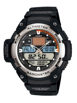 Casio Sports Altimeter Thermometer SGW-400H-1BVDR SGW-400H-1B SGW400H Watch