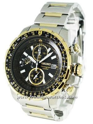 Seiko Pilot's Alarm Chronograph SNAD06P1 SNAD06 SNAD06P Men's Watch