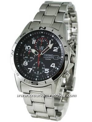 Seiko Chronograph SND375P1 SND375 SND375P Men's Watch