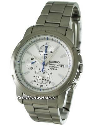 Seiko Alarm Chronograph Titanium SNAE45P1 SNAE45 SNAE45P Men's Watch