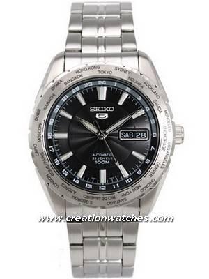 Seiko Automatic Sports SNZG53K1 SNZG53K SNZG53 World Timer Men's Watch