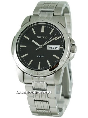 Seiko Quartz Black Dial SGG783P1 SGG783 SGG783P Men's Watch