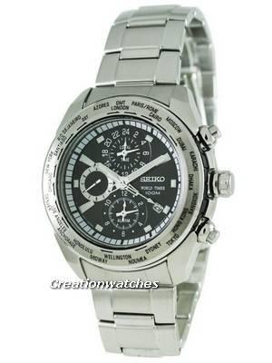 Seiko Alarm World Timer SPL031P1 SPL031 SPL031P Men's Watch