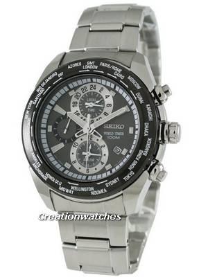 Seiko Alarm World Timer SPL035P1 SPL035 SPL035P Men's Watch