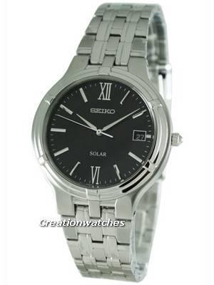 Seiko Solar Quartz SNE027P1 SNE027 SNE027P Men's Watch
