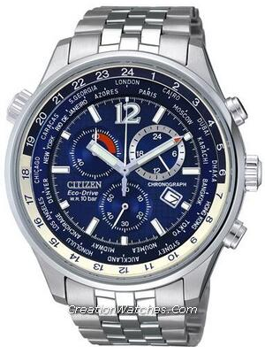 Citizen Eco Drive Men's Chronograph World Time AT0360-50L