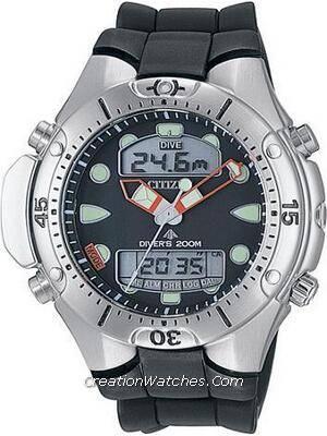 Citizen Aqualand Diver Depth Meter Promaster Sea JP1060-01E JP1060