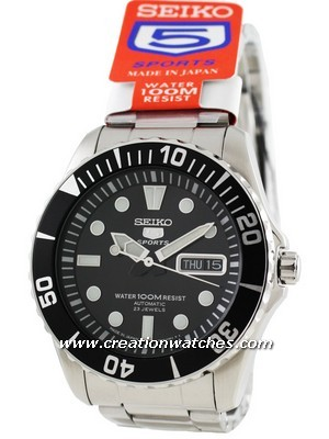 Seiko Automatic Divers 23 Jewels 100m Made in Japan SNZF17J1 SNZF17J SNZF17