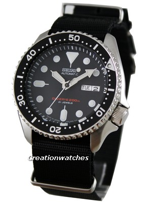 Seiko Automatic Diver 200m Japan SKX007J6-Nato Watch