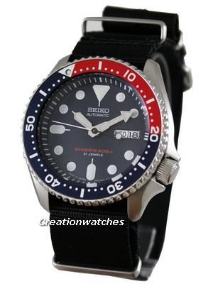 Seiko Automatic Diver 200m Japan SKX009J6-Nato Watch