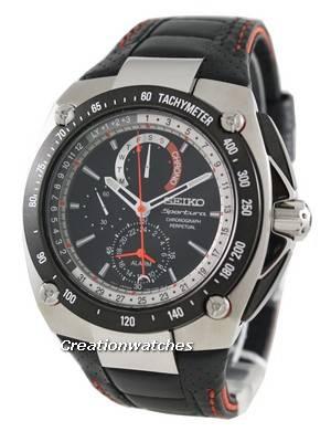 Seiko Sportura Alarm Chronograph Perpetual Watch SPC047P2 SPC047P SPC047