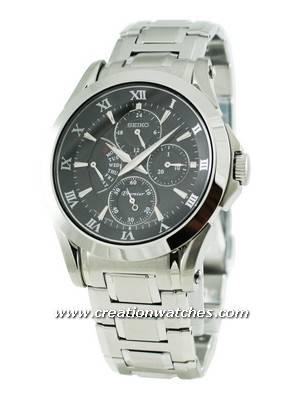 Seiko Premier SRL023P1 SRL023P SRL023 Men's Retrograde Day Indicator Watch
