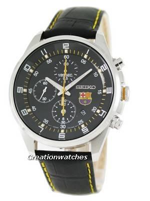Seiko Chronograph F.C. Barcelona SNDD25P1 SNDD25 SNDD25P Mens Watch