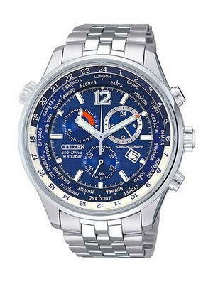 Citizen Chronograph Eco-Drive World time AT0365-56L Mens Watch