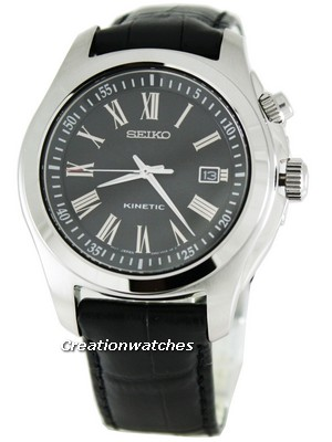 Seiko Kinetic Leather Strap SKA469P2 Mens Watch