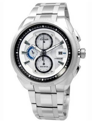 Citizen Eco-Drive Chronograph Super Titanium CA0201-51B Mens Watch