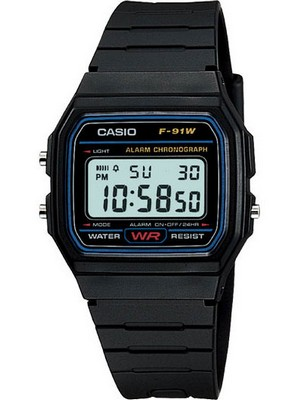Casio Classic Sports Chronograph F-91W-1SDG F-91W-1S Men's Watch