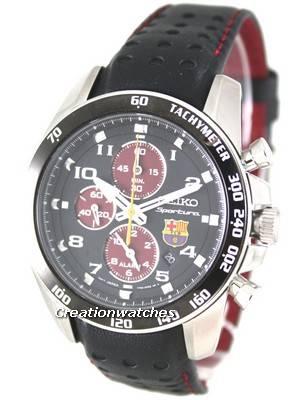 Seiko Sportura Chronograph F C Barcelona SNAE75P1 SNAE75P Mens Watches