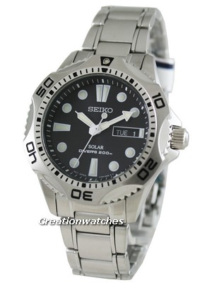 Seiko Solar Mens Scuba Diver's Sports Watch SNE107P1 SNE107 SNE107P