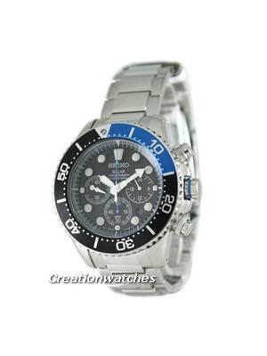 Seiko Solar Chronograph Divers SSC017P1 SSC017P SSC017 Mens Watch