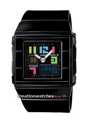 Casio BGA-200PD-1B BGA-200PD BGA-200PD-1 Baby-G Casket Anolog-Digital Ladies Watch