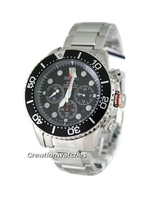 Seiko Solar Chronograph Divers SSC015P1 SSC015P SSC015 Mens Watch