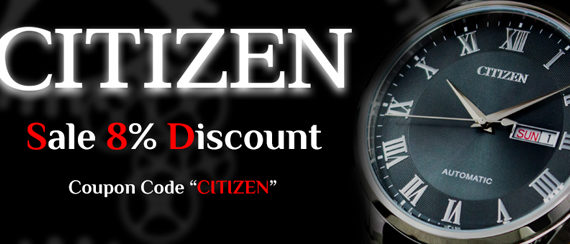 Citizen Watches on Sale – Coupon code inside!!