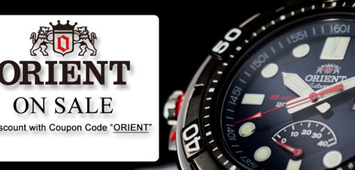 Orient Watches on Sale – Additional 8% Discount Coupon Code Inside!!!