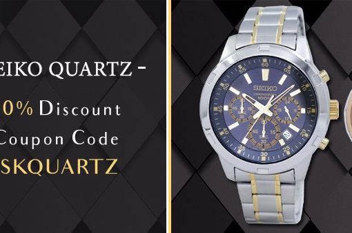 Seiko Quartz Watches On Sale – Coupon Code Inside!!