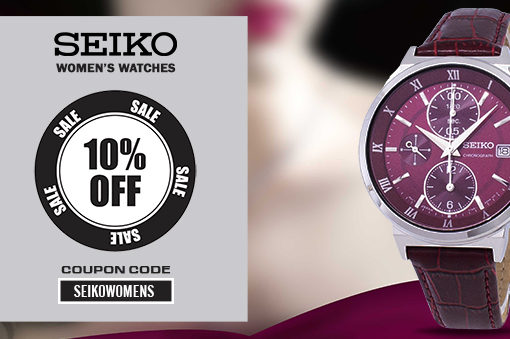 Seiko Women's Watches On Sale – Coupon Code Inside!!