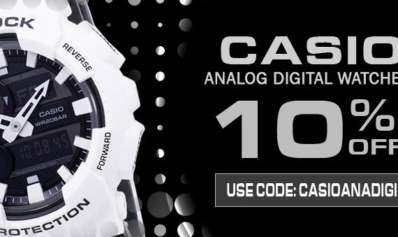 Casio Analog-Digital Watches On Sale: Additional 10% Discount Code Inside!!!