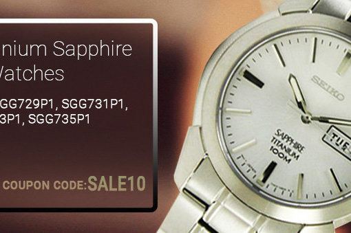 Seiko Titanium Sapphire Watches On Sale: Additional 10% discount code inside!!!